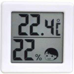 代引不可【送料無料メール便専用】 ドリテック 小さいデジタル温湿度計 ホワイト O-257WT|k-direct2