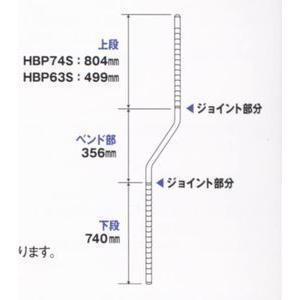 <title>エレクター ホームエレクター 高さ1900mm ベンドポスト クローム お気に入り HBP74S</title>