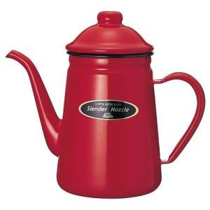 コーヒーを極めたカリタが作ったコーヒーをドリップ式でおいしくいれるためのホーローポットです。注ぎ口が...
