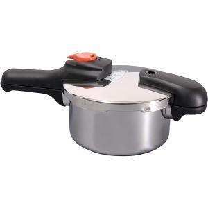 節約クック ステンレス製圧力切替式片手圧力鍋2.5L H-5434 k-direct2