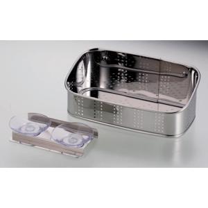 アクアスプラッシュ 抗菌ステンレス製洗剤・スポンジ入れ 18|k-direct2