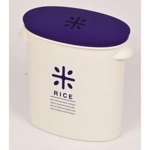 計量カップ付 RICE お米袋そのまま保存ケースストッカー5kg用 ネイビー  HB-2166|k-direct2