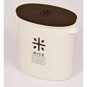 計量カップ付 RICE お米袋そのまま保存ケースストッカー5kg用 ブラウン  HB-2168|k-direct2