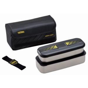 送料無料 サーモス フレッシュランチボックス1100ml ブラック DSD-1101W-BK