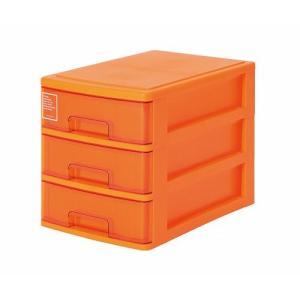 シルキー A4サイズ収納ボックス3段 403 オレンジ k-direct2