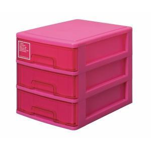 シルキー A4サイズ収納ボックス3段 403 ピンク k-direct2