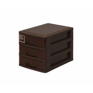 シルキー A5サイズ収納ボックス3段 503 ブラウン k-direct2