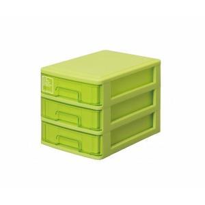 シルキー A5サイズ収納ボックス3段 503 グリーン k-direct2