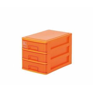 シルキー A5サイズ収納ボックス3段 503 オレンジ k-direct2