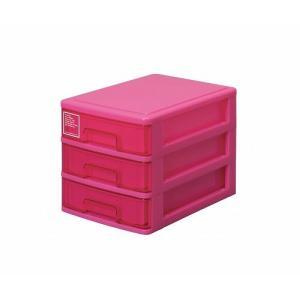 シルキー A5サイズ収納ボックス3段 503 ピンク k-direct2