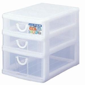 エルピス A5サイズ収納ボックス3段 A-512 ホワイト|k-direct2