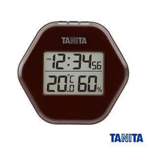 【送料無料メール便専用】タニタ TT573BR デジタル温湿度計 ブラウン|k-direct2