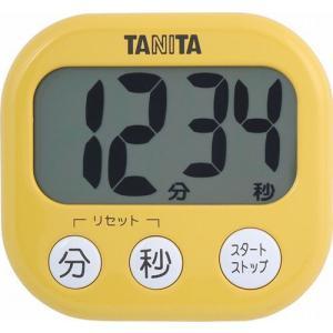 代引不可【送料無料メール便専用】 タニタ でか見えタイマー マンゴーイエロー TD-384MY