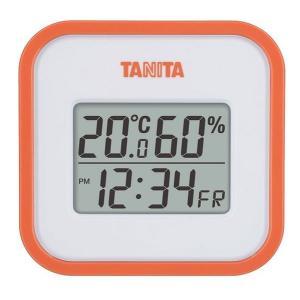 送料無料 タニタ デジタル温湿度計 オレンジ TT-558OR|k-direct2