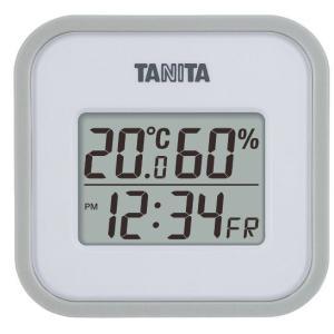 タニタ デジタル温湿度計 グレーホワイト TT-558WH|k-direct2