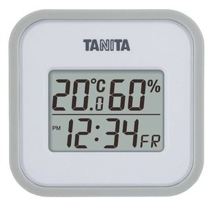 送料無料 タニタ デジタル温湿度計 グレーホワイト TT-558WH|k-direct2