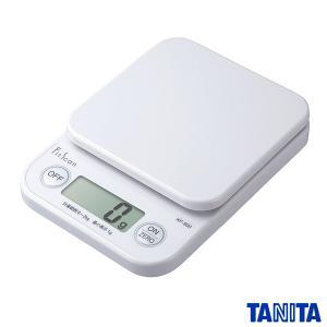 タニタ デジタル クッキングスケール キッチンスケール 2kg/1g ホワイト KF-200-WH