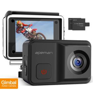 Apeman A85 アクションカメラ ジンバル・スタビライザー内蔵型 手ぶれ補正 4k 防水 IP...
