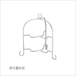 カジュアルプロダクト(CP) カフェテリア フォールダブルスタンド2段 シルバー k-koubou