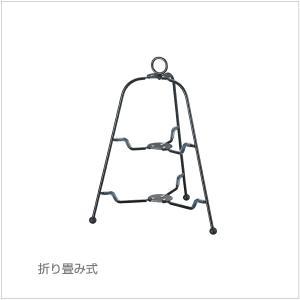 カジュアルプロダクト(CP) ツリー型 フォールダブルスタンド2段 BK k-koubou