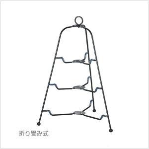 カジュアルプロダクト(CP) ツリー型 フォールダブルスタンド3段 BK k-koubou