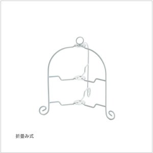 カジュアルプロダクト(CP) ドルチェ フォールダブルケーキスタンド2段 WH k-koubou