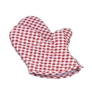 ギンガム オーブンミット(2枚1組)赤 小(260)OM−1|k-koubou