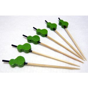 飾り串 ひょうたん(10本入)緑 7.5cm|k-koubou