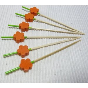 飾り串梅(10本入) オレンジ 7.5cm|k-koubou