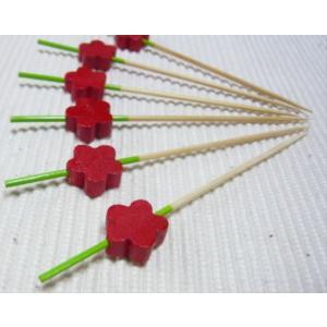 飾り串梅(10本入) 赤 7.5cm|k-koubou