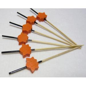 飾り串紅葉(10本入) オレンジ 7.5cm|k-koubou