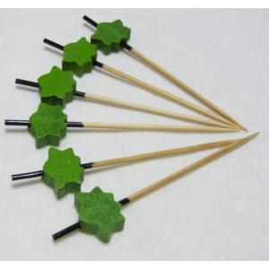 飾り串紅葉(10本入) オリーブ 7.5cm|k-koubou