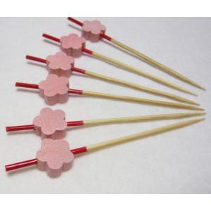 飾り串梅(10本入) ピンク 7.5cm|k-koubou