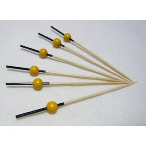 珠かんざし串(10本入)黄 7.5cm|k-koubou