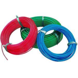 ビニール被覆ワイヤーロープ(6×7) 3−5mm×200m巻|k-liftec