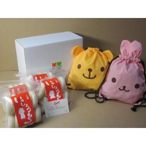 1歳の誕生日のお祝いに名入れのリュックと丸餅の1升餅(一升餅)セット 1st birthday MOCCI