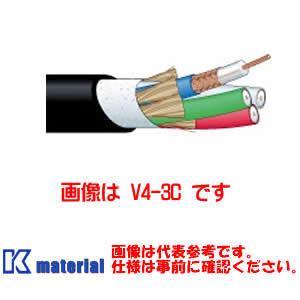 【代引不可】 カナレ電気 CANARE 75Ω同軸マルチケーブル 5ch 3Cケーブル V5-3C-EM 100m巻 高密度編組シールド エコタイプ シース黒 [KA2630]|k-material