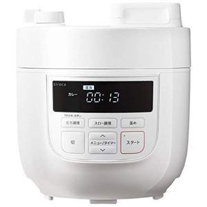 シロカ 2L電気圧力鍋[コンパクト2Lモデル/1台6役(スロー調理付き)] SP-D131 ホワイト|k-media