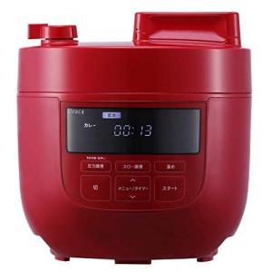 シロカ 電気圧力鍋 SP-4D151 レッド [大容量4Lモデル/高圧力90Kpa/1台6役(圧力・無水・蒸し・炊飯・スロー調理・温め直し)|k-media