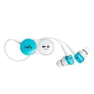 SONY カナル型ワイヤレスイヤホン ウォークマン用 ノイズキャンセリング Bluetooth対応 ブルー MDR-NWBT10N/L|k-media