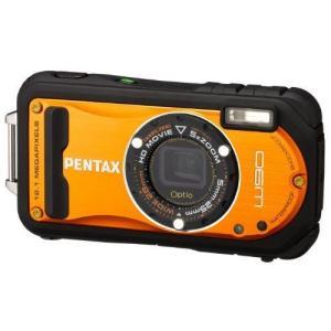 PENTAX 防水デジタルカメラ Optio W90 シャイニーオレンジ OPTIOW90SO|k-media
