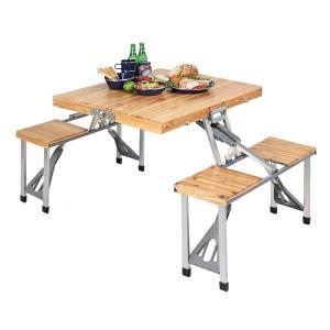 ● パール金属 キャプテンスタッグ(CAPTAIN STAG) テーブル NEWシダー 杉製ピクニックテーブル ナチュラル UC-3|k-mori