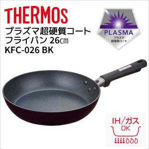 【期間特価】 IH対応 サーモス フライパン プラズマ超硬質コート フライパン 26cm ブラック ...
