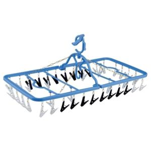 洗濯ハンガー daiya 干し分け角ハンガー ストロング40ピンチ 洗濯 ランドリー 物干し|k-mori