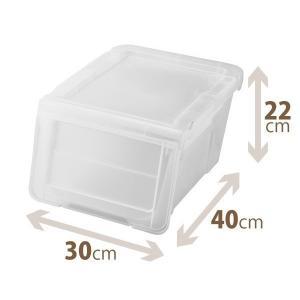 天馬 PRX カバコ スリムS クリア 収納ケース 収納ボックス 小物収納 TENMA フラップ スタッキング 4904746078032|k-mori