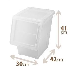 【在庫限り POINT10倍】 天馬 PRX カバコ スリムL クリア 収納ケース 収納ボックス 小物収納 TENMA フラップ スタッキング|k-mori