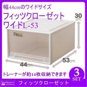 天馬 Fits フィッツクローゼット ワイドL-53(CAP)(3個組)(収納ケース/衣装ケース/収納ボックス/TENMA/FITS) k-mori