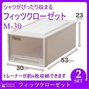 天馬 Fits フィッツクローゼット M-30(CAP)(2個組)(収納ケース/衣装ケース/収納ボックス/TENMA/FITS) k-mori