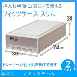 天馬 Fits フィッツケース スリム(CAP)(2個組)(収納ケース/衣装ケース/収納ボックス/TENMA/FITS)|k-mori