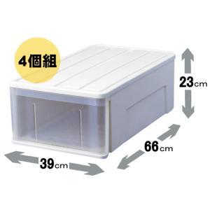 天馬 たっぷり収納 66M(4個組)(収納ケース/衣装ケース/収納ボックス/TENMA) k-mori